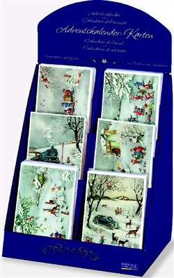 Adventskalender-Karten-Display